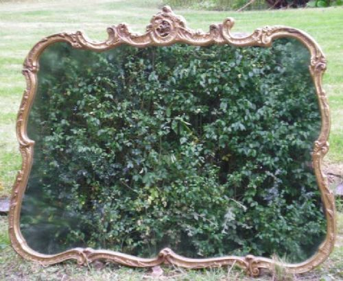Carved Edge Gilt Wood Hanging Wall Mirror by Reflectwell